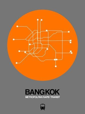 Bangkok Orange Subway Map