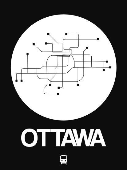Ottawa Subway Map.Ottawa White Subway Map