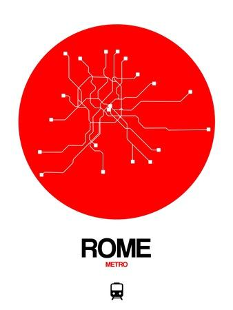 Rome Red Subway Map