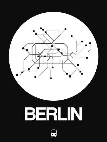 Berlin Subway Map Poster.Berlin White Subway Map