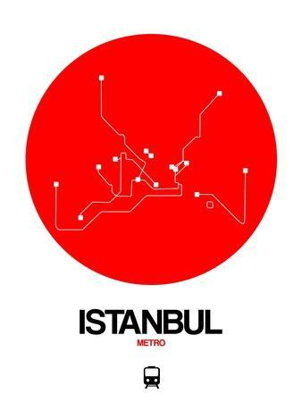 Istanbul Red Subway Map