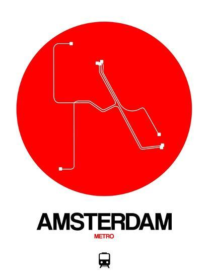 Amsterdam White Subway Map Posters By Naxart At Allposters Com