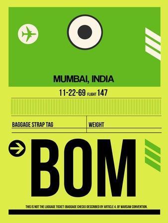BOM Mumbai Luggage Tag I