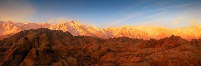 Scenic View of Mountains, Mount Whitney, Lone Pine Peak, Sierra Nevada, California, USA