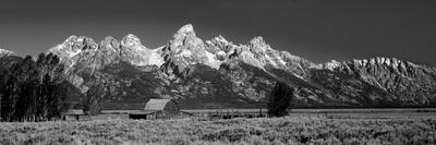 Barn on Plain before Mountains, Grand Teton National Park, Wyoming, USA