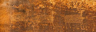 Petroglyphs on Sandstone, Arches National Park, Utah, USA