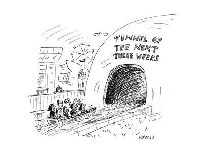 Tunnel of the Next Three Weeks - Cartoon