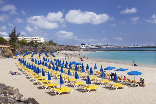 Playa Dorada Beach Blanca Lanzarote Canary Islands Spain Atlantic