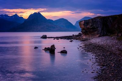 Sunset at Elgol, Isle of Skye, Inner Hebrides, Scotland, United Kingdom, Europe