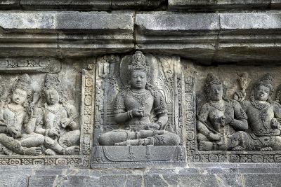 Hindu Carvings on the Prambanan Temples, UNESCO World Heritage Site, Near Yogyakarta