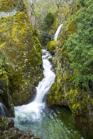 Poco Do Inferno Waterfall in the Serra Da Estrela Nature Park, Serra Da Estrela Mountain Range