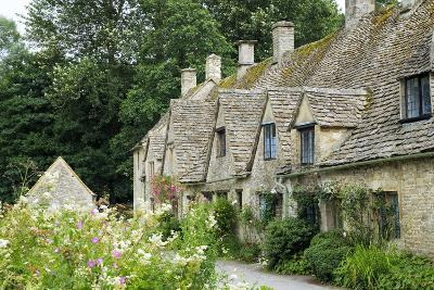 Typical Cotswold Houses in the Village of Bibury, the Cotswolds, Gloucestershire