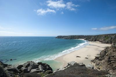 Near Logan Rock at the Top of Treen Beach in Cornwall, the Westernmost Part of the British Isles