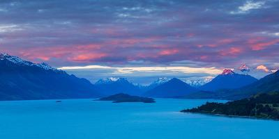 Mount Earnslaw and Neighbouring Mountain Peaks in Southern Alps