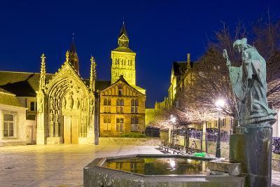 Keizer Karelplein (Keizer Karel Square) at Night, Maastricht, Limburg, Netherlands, Europe