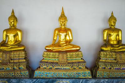 Golden Buddha Statues, Wat Pho (Temple of the Reclining Buddha), Bangkok, Thailand, Southeast Asia