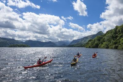Canoes on Derwentwater, View Towards Borrowdale Valley, Keswick