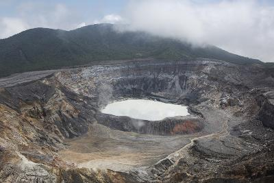 Crater of Poas Volcano in Poas Volcano National Park