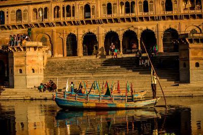 Indian Gondolier, Flower Holi Festival, Vrindavan, Uttar Pradesh, India, Asia