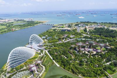 High View Overlooking Gardens by Bay Botanical Gardens with its Conservatories and Supertree Grove