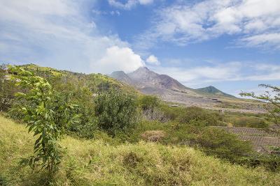 View of the Haze around the Peak of Soufriere Hills Volcano, Montserrat, Leeward Islands
