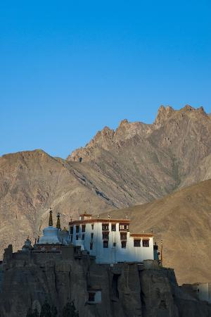 A View of Magnificent 1000-Year-Old Lamayuru Monastery in Remote Region of Ladakh in Northern India