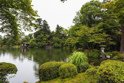 Rain Drops Fall on Kasumigaike Pond in Summer, Kenrokuen