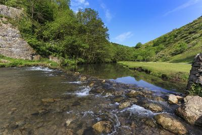Weir, River Dove, Dovedale and Milldale in Spring, White Peak, Peak District