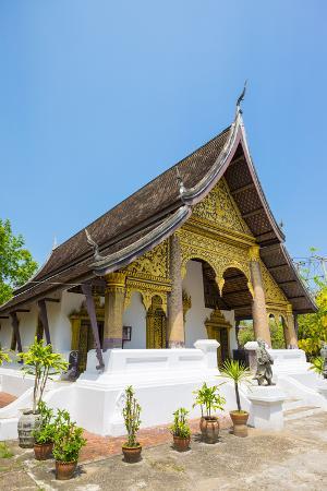 Wat Choumkhong Buddhist Temple, Luang Prabang, Louangphabang Province, Laos, Indochina