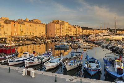 Warm Evening Sunlight Illuminating the Port of Saint Tropez, Var, Provence
