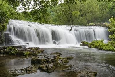 Monsal Weir in Monsal Head Valley, Peak District National Park, Derbyshire, England, United Kingdom