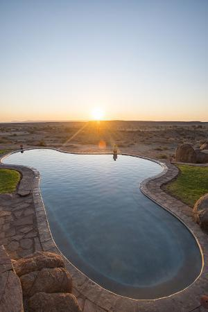 A Swimming Pool on the Edge of the Desert at Canyon Lodge Near the Fish River Canyon, Namibia