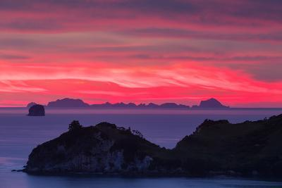 The Sky Appears on Fire as Dawn Light Seeps Through Clouds Beyond Alderman Island