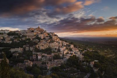 Houses and Buildings of Gordes as They Spiral Up around Rock Plateau High Above Luberon