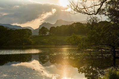 Sunset at Loughrigg Tarn Near Ambleside, Lake District National Park, Cumbria