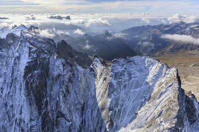 Aerial View of Cima Della Bondasca Located Between Ferro Valley and Bondasca Valley