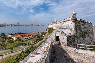 Looking across the Calm Waters of Havana Bay to Havana with the 16th Century Fortress, Morro Castle