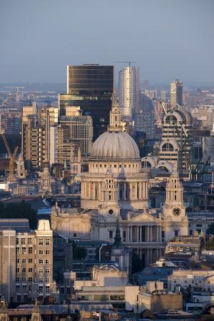 St. Pauls Cathedral and Skyline, London, England, United Kingdom, Europe