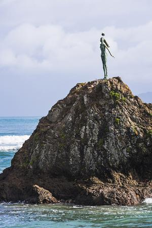 The Lady on the Rock Sculpture Remembering the Maori Women of Mataatua, Whakatane Bay