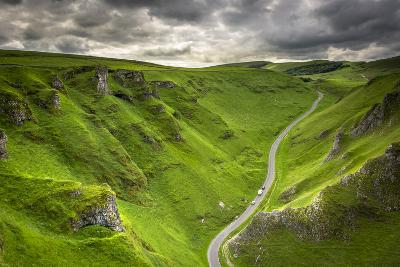 Winnats Pass Near Castleton in the Peak District National Park, Derbyshire, England