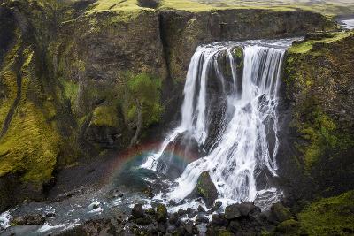 Fagrifoss Waterfall on the Slopes of Laki Crater, Lakagigar, Highlands Region