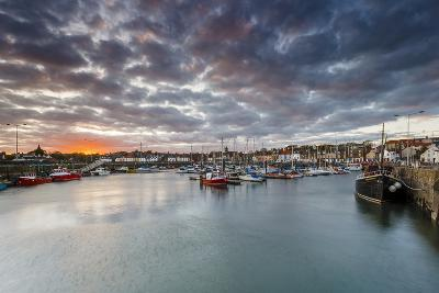 Sailing Boats at Sunset in the Harbour at Anstruther, Fife, East Neuk, Scotland, United Kingdom