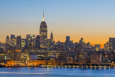 New York Skyline with Midtown, Manhattan and Empire State Building Viewed across Hudson River