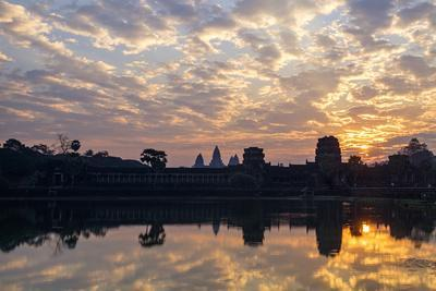 Sunrise, Angkor Vat Temple, Built in 12th Century by King Suryavarman Ii