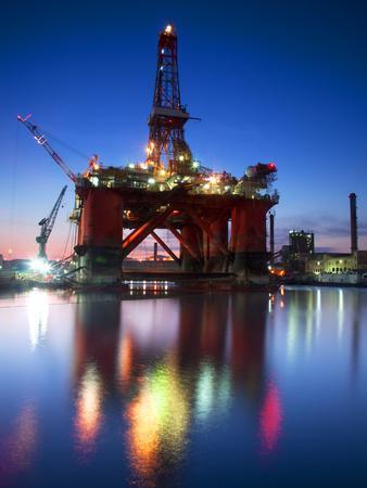 Europe, Maltese Islands, Malta. an Oil Rig at the Ship Repairing Site.