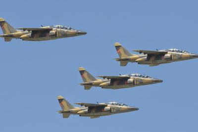 Royal Moroccan Air Force Alpha Jets Flying over Morocco