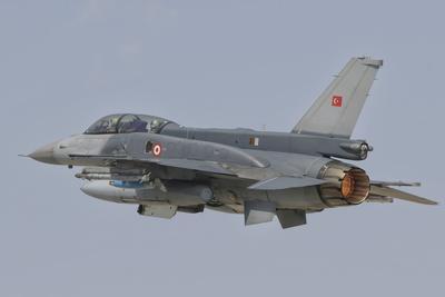Turkish Air Force F-16 in Flight over Turkey