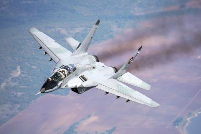 A Bulgarian Air Force Mig-29S During a Training Mission over Bulgaria