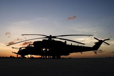 An Ah-2 Sabre at Sunset in Natal, Brazil