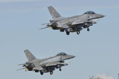 A Pair of Polish Air Force F-16 Block 52+ Taking Off